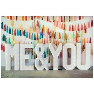 giant lightbulb letters for wedding