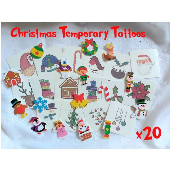 Christmas Temporary Tattoo Pack of 20